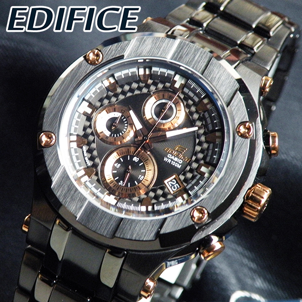 cb78d81d5 Edifice EFX-500BK-1A black x dynamic design-made in Japan movement with ...