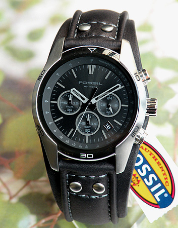 f3df723a16e3e Fossil CH2586 chronograph black (black) leather band mens watch men s  watches watch overseas imported from model