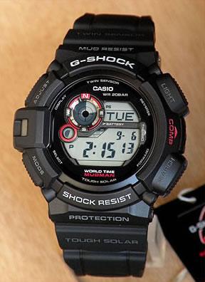 CASIO カシオ G-SHOCK Gショック ジーショック メンズ 防水 腕時計 時計 G-9300-1 ブラック 黒 海外モデル カーボン ウレタン デジタル タフソーラー 方位・温度計測可能ツインセンサー ムーンデータ MUDMAN マッドマン 誕生日 男性 ギフト プレゼント 見やすい