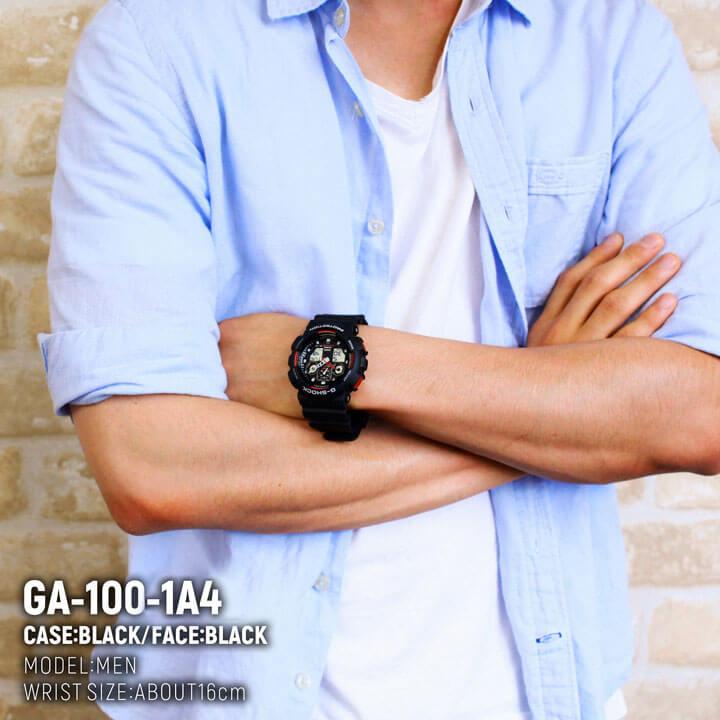 """卡西欧卡西欧 g 冲击 G-休克""""手表 1A4 黑色 x 红海外型号男士手表男士手表"""