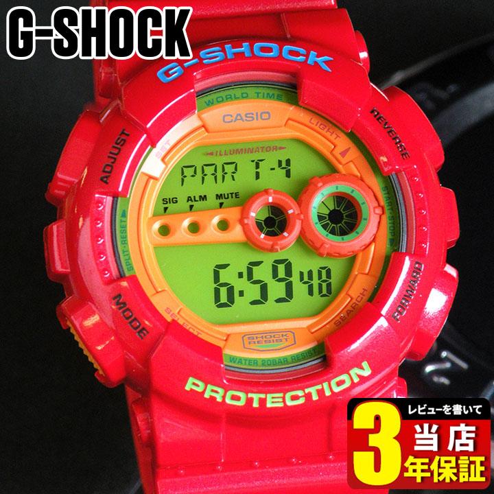 【タグなし】【送料無料】CASIO カシオ G-SHOCK Gショック ジーショック GD-100HC-4 海外モデル Hyper Colors ハイパーカラーズ メンズ 腕時計 時計 G-SHOCK Gショック ジーショック 赤 レッド 商品到着後レビューを書いて3年保証 誕生日プレゼント 男性 ギフト