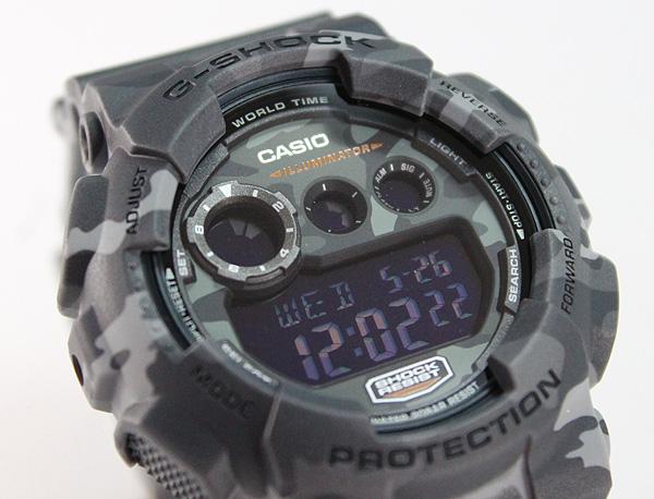CASIO カシオ G-SHOCK Gショック GD-120CM-8 海外モデル 腕時計 メンズ 時計 多機能 防水 カジュアル デジタル 迷彩 ミリタリー カモフラージュ グレー スポーツ 誕生日プレゼント 男性 父の日 ギフト