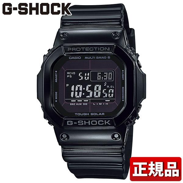 CASIO カシオ G-SHOCK Gショック ジーショック Grossy Black Series グロッシー・ブラックシリーズ GW-M5610BB-1JF 国内正規品 電波 ソーラー電波時計 デジタル スクエア タフソーラー 電波 5600系 マルチバンド6 メンズ 時計 腕時計 黒 オールブラック