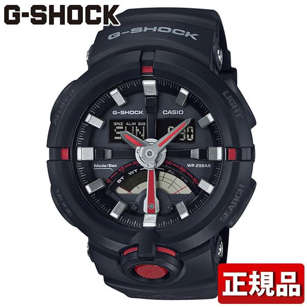 【送料無料】CASIO カシオ G-SHOCK Gショック GA-500-1A4JF クオーツ 黒 ブラック メンズ 腕時計 国内正規品 国内モデル レトログラード ビックフェイス 誕生日プレゼント 男性 卒業祝い 入学祝い ギフト