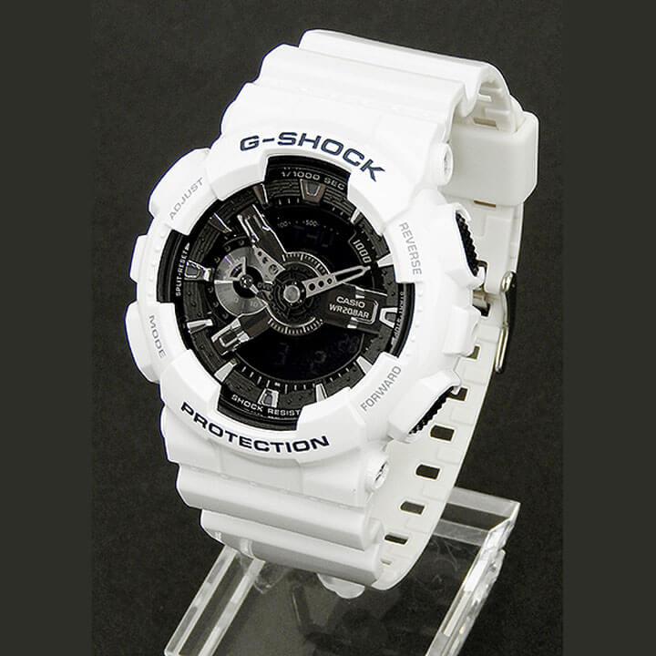 BOX訳あり CASIO カシオ G-SHOCK Gショック ジーショック GA-110GW-7A 海外モデル メンズ 腕時計 ウォッチ ウレタン バンド クオーツ カジュアル アナログ デジタル 黒 ブラック 白 ホワイト 商品到着後レビューを書いて3年保証 誕生日プレゼント 男性 ギフト