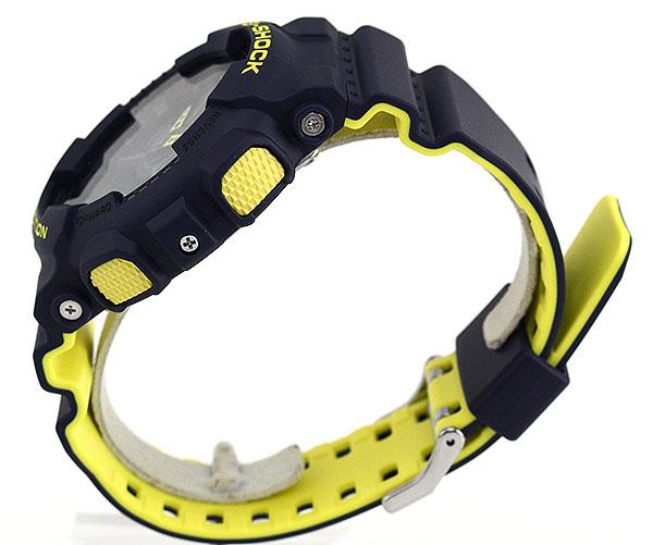 CASIO カシオ G-SHOCK Gショック ジーショック Layered Neon Color GA-110LN-2A 海外モデル メンズ 腕時計 ウレタン 多機能 クオーツ アナログ デジタル 黄色 イエロー 紺 ネイビー 誕生日プレゼント 男性 父の日 ギフト