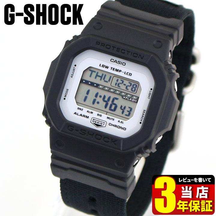 CASIO カシオ G-SHOCK Gショック ジーショック G-LIDE Gライド GLS-5600CL-1 メンズ 腕時計 ナイロン 黒 ブラック 海外モデル 商品到着後レビューを書いて3年保証 誕生日プレゼント 卒業祝い 入学祝い 男性 ギフト