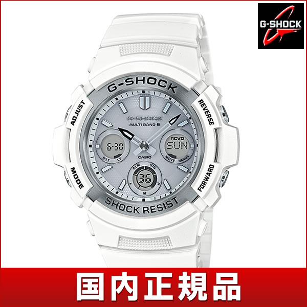 【送料無料】 CASIO カシオ G-SHOCK Gショック ジーショック Marine White マリンホワイト AWG-M100SMW-7AJF メンズ 腕時計 ウレタン 多機能 タフソーラー アナログ デジタル 白 ホワイト 銀 シルバー 国内正規品