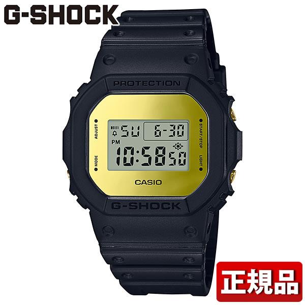 【送料無料】CASIO カシオ G-SHOCK Gショック ジーショック Metallic Mirror Face メタリック・ミラーフェイス DW-5600BBMB-1JF メンズ 腕時計 ウレタン 多機能 クオーツ デジタル 黒 ブラック 金 ゴールド 国内正規品
