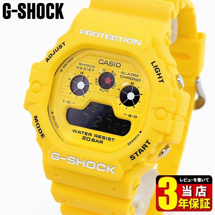 CASIO カシオ G-SHOCK 新品 ジーショック Hot Rock Sounds Gショック ホットロックサウンド DW-5900RS-9 メンズ 黄色 海外モデル イエロー ウレタン 夫 腕時計 デジタル 多機能 彼氏 (訳ありセール 格安) クオーツ 旦那