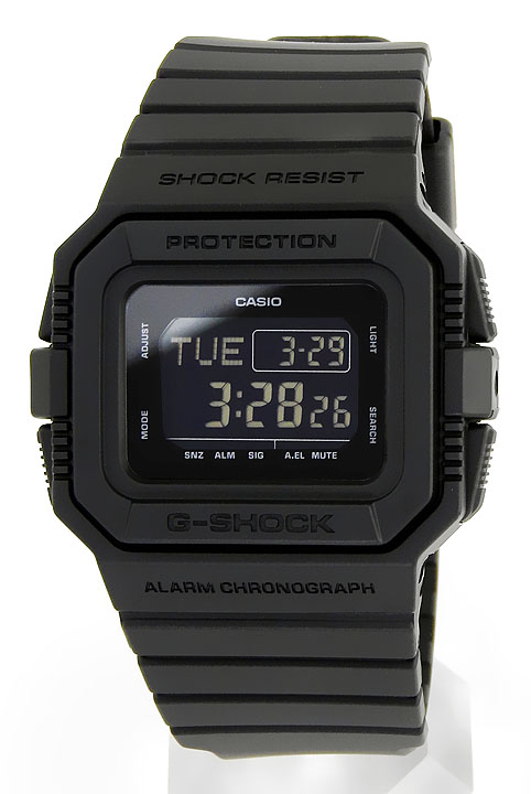 CASIO カシオ G-SHOCK Gショック ジーショック DW-D5500BB-1 BB Series メンズ 腕時計 黒 ブラック デジタル 誕生日プレゼント 卒業祝い 入学祝い 男性 ギフト 海外モデル