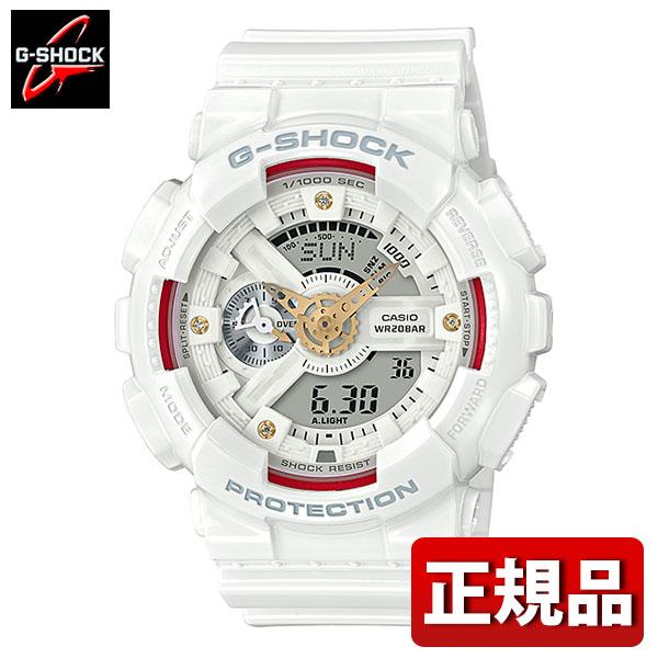 【送料無料】CASIO カシオ G-SHOCK Gショック ジーショック GA-110DDR-7AJF メンズ 腕時計 ウレタン 多機能 クオーツ アナログ デジタル 白 ホワイト 赤 レッド 金 ゴールド 国内正規品 卒業祝い 入学祝い