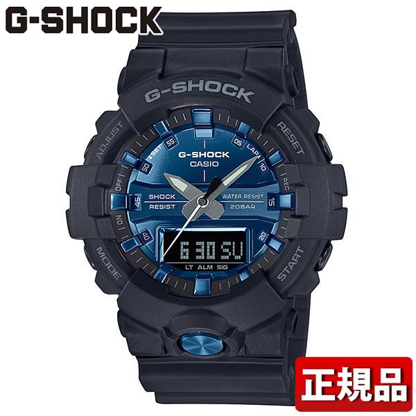 CASIO カシオ G-SHOCK Gショック ジーショック SPECIAL COLOR Garishカラー GA-810MMB-1A2JF メンズ 腕時計 ウレタン 多機能 クオーツ アナログ デジタル 黒 ブラック 青 ブルー 国内正規品