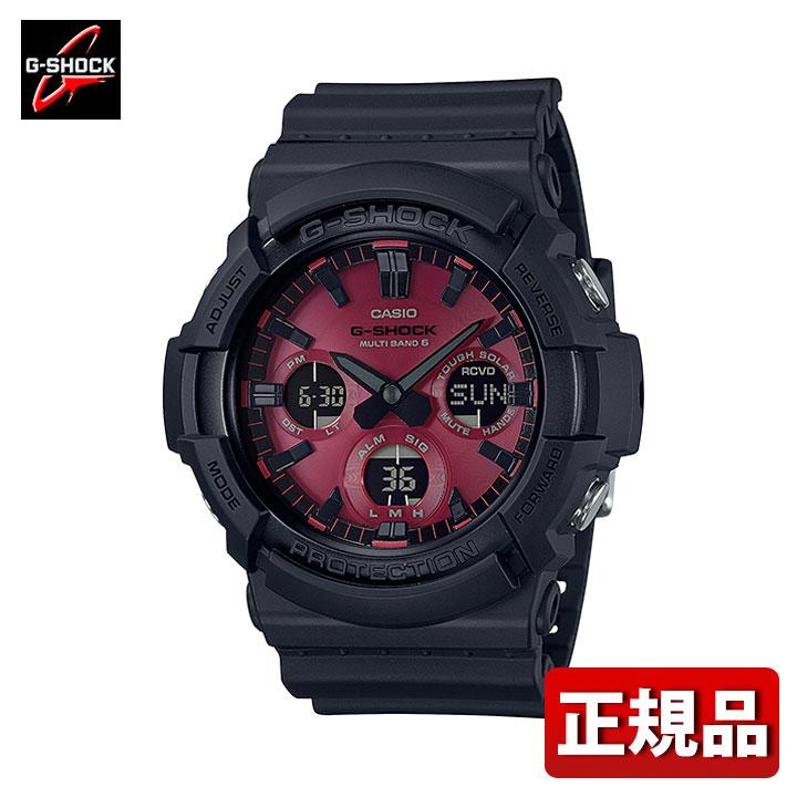 CASIO カシオ G-SHOCK Gショック ジーショック Black and Red Series GAW-100AR-1AJF メンズ 腕時計 防水 ウレタン 多機能 タフソーラー 電波 アナログ デジタル 黒 ブラック 赤 レッド 国内正規品