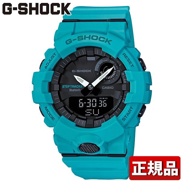 CASIO カシオ G-SHOCK Gショック ジーショック G-SQUAD ジー・スクワッド GBA-800-2A2JF メンズ 腕時計 ウレタン 多機能 クオーツ アナログ デジタル 黒 ブラック 青 ブルー 国内正規品