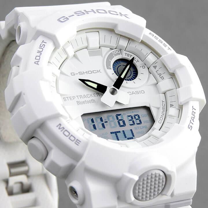 BOX訳あり CASIO カシオ G-SHOCK Gショック ジーショック G-SQUAD ジー・スクワッド GBA-800-7A メンズ 腕時計 アナログ デジタル 白 ホワイト 誕生日プレゼント 男性 卒業祝い 入学祝い ギフト 海外モデル
