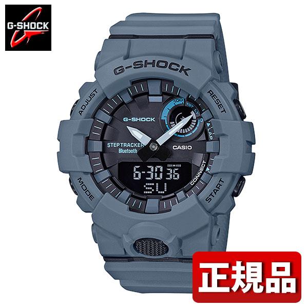 CASIO カシオ G-SHOCK Gショック ジーショック G-SQUAD ジー・スクワッド GBA-800UC-2AJF メンズ 腕時計 ウレタン クオーツ アナログ デジタル 黒 ブラック 青 ブルー モバイルリンク機能 国内正規品