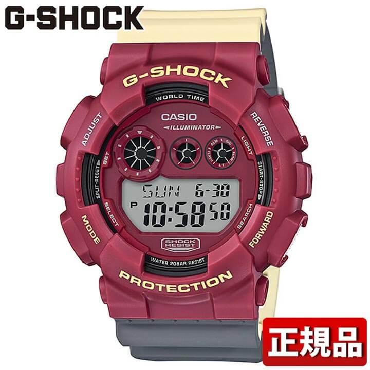 CASIO カシオ G-SHOCK Gショック ジーショック GD-120NC-4JF メンズ 腕時計 ウレタン 多機能 クオーツ デジタル グレー ベージュ 赤 レッド 国内正規品 誕生日プレゼント 男性 ギフト