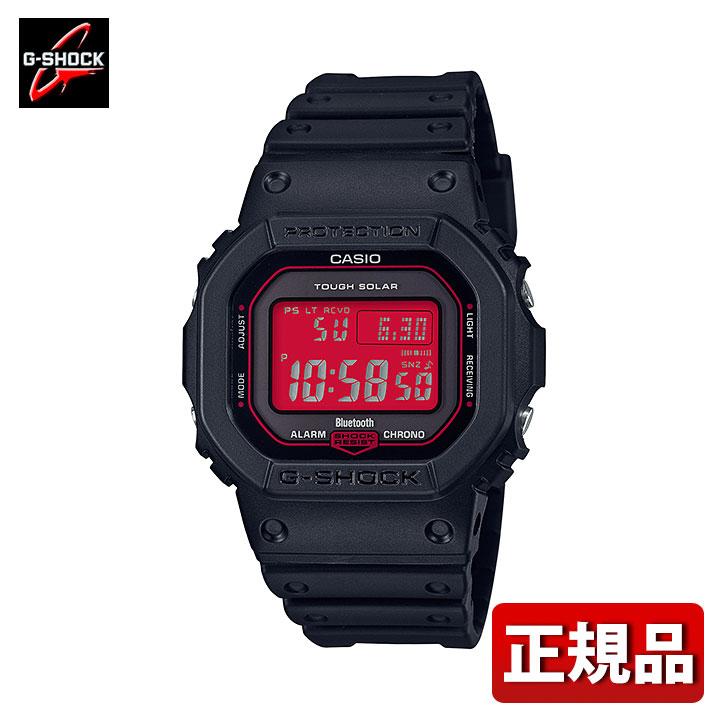 CASIO カシオ G-SHOCK Gショック ジーショック Black and Red Series GW-B5600AR-1JF メンズ 腕時計 ウレタン 多機能 タフソーラー 電波 スマートフォンリンク デジタル 黒 ブラック 赤 レッド 国内正規品