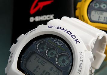 商品抵达以后3年保证CASIO卡西欧G打击G-SHOCK G打击G-6900A-7海外型号人手表新货钟表多功能防水表强壮的太阳能G-SHOCK G打击G打击白白体育生日礼物