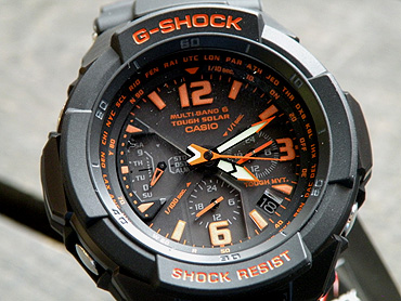 wholesale dealer 45226 ff7e8 G-shock solar radio watch SKY COCKPIT sky cockpit G shock CASIO Casio  GW-3000B-1A black × orange overseas model mens watch men's watches