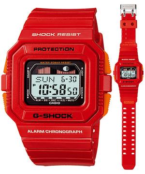 品質満点 CASIOカシオ 腕時計 時計 スポーツウォッチ Gショック GLX-5500A-4JFレッド国内品 タイドグラフ/ムーンデータ搭載 スポーツラインG-LIDE, ヒナイマチ 5a1a95d8