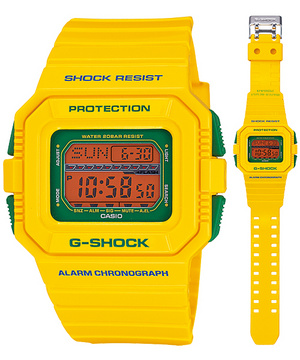 セットアップ CASIOカシオ 腕時計 防水 時計 メンズ G-SHOCK Summer Colorsサマーカラーズ GLS-5500CC-9JFイエロー CASIO国内正規品 耐低温仕様 誕生日プレゼント 男性 バレンタイン ギフト, 南信堂 5917d249