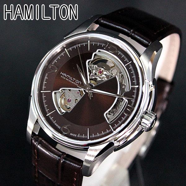 【送料無料】ハミルトン HAMILTON H32565595 ブラウン レザーバンド Jazzmaster Viematic Openheart ジャズマスター ビューマチック オープンハート メンズ 腕時計時計自動巻き 誕生日プレゼント 男性 クリスマス ギフト