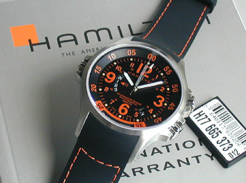 24bd530b5 ... Khaki GMT air race Hamilton HAMILTON khaki GMT automatic black letter  Edition H77665373 mens watch men ...