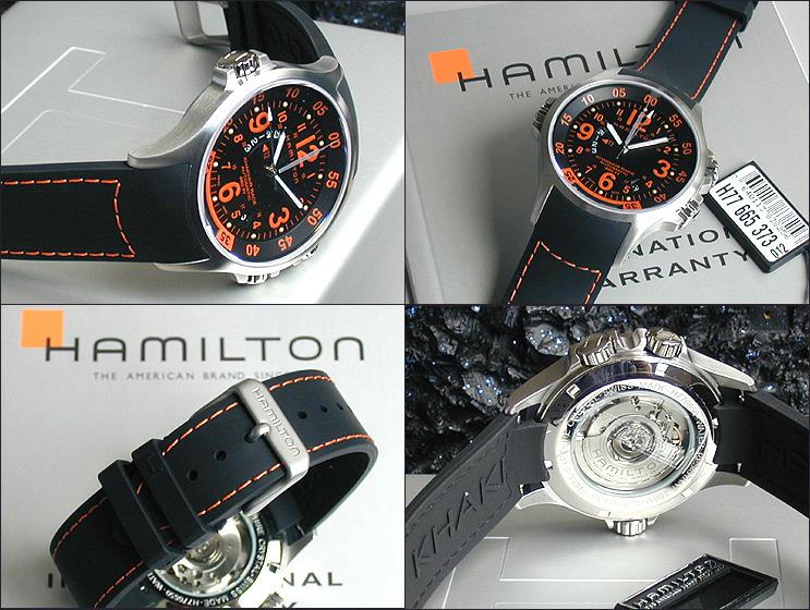 5a5aac20a Hamilton HAMILTON khaki GMT air race. Men's wrist watch H77665373. H77665373