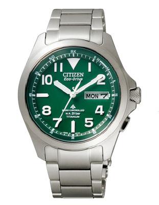 【ランタン付き】CITIZENシチズン PROMASTERプロマスター チタン エコドライブ電波時計 LANDランド PMD56-2951グリーン メンズ 腕時計 時計 誕生日 誕生日プレゼント 男性 ギフト