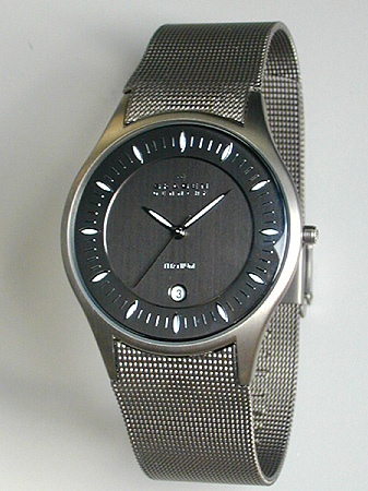 ★ SKAGEN sukagen 342XLTTM钛材料的从男子的手表钟表商务到休闲的样式适合的北欧设计