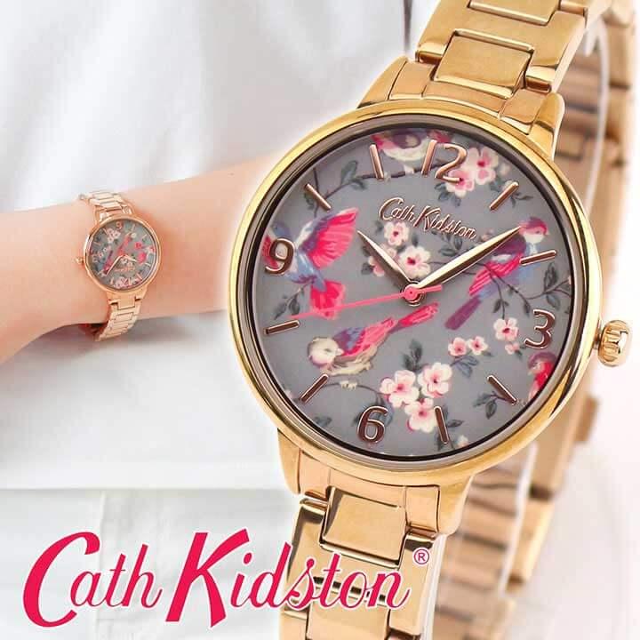 Cath Kidston キャスキッドソン CKL001RGM レディース 腕時計 メタル クオーツ アナログ ピンク ピンクゴールド ローズゴールド グレー 海外モデル