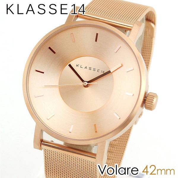 スーパーセール 【送料無料】Klasse14 クラス14 KLASSE14 Volare VO14RG003M 海外モデル メンズ レディース 腕時計 メタル バンド クオーツ アナログ 金 ピンクゴールド 42mm 誕生日プレゼント 男性 女性 ギフト