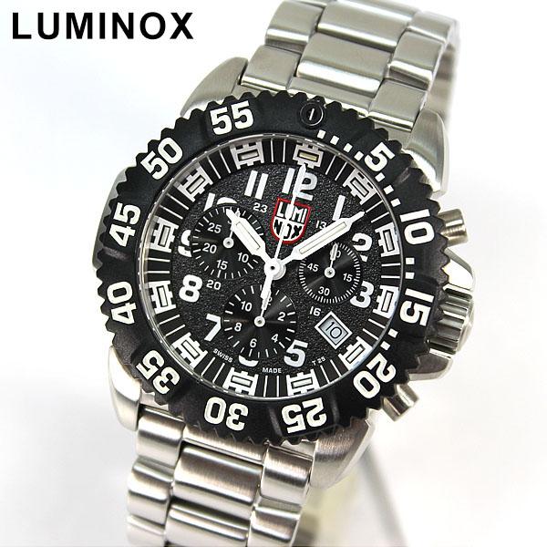 【送料無料】LUMINOX ルミノックス Navy SEALs ネイビーシールズ 重厚 メタル ベルト 3182 スティール カラーマーク クロノグラフ ミリタリー メンズ 腕時計 誕生日プレゼント 男性 父の日 ギフト