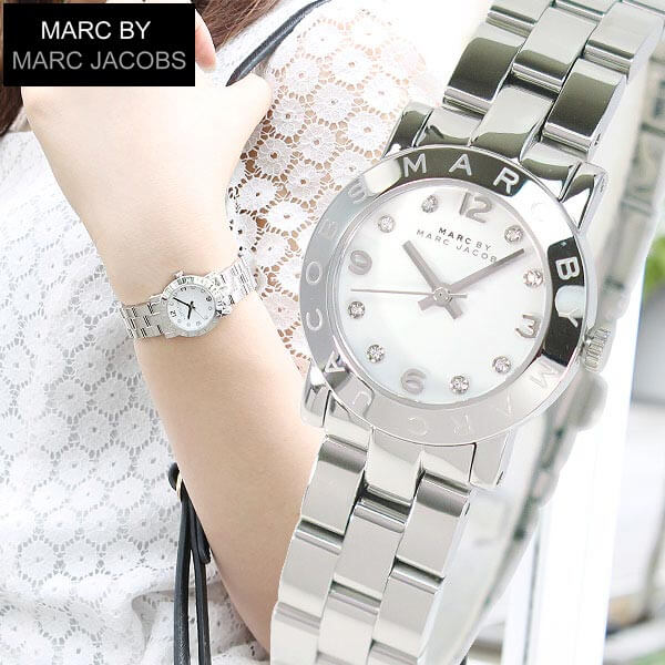 【送料無料】マークバイマークジェイコブス 時計 MARC BY MARC JACOBS MARCJACOBS マークバイマークMBM3055スモール レディース 腕時計 シルバー 白 ホワイト誕生日プレゼント 誕生日プレゼント 女性 ギフト
