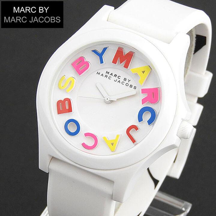 【送料無料】MARC BY MARC JACOBS マークバイマークジェイコブス MBM8660 レディース 腕時計用 時計 クオーツ ホワイト 白 シリコンラバー 誕生日プレゼント 女性 卒業祝い 入学祝い ギフト