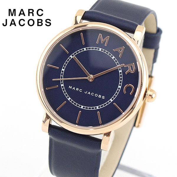 【送料無料】MARC JACOBS マーク ジェイコブス ROXY ロキシー MJ1534 海外モデル レディース 腕時計 革ベルト レザー ネイビー ピンクゴールド 誕生日プレゼント 女性 ギフト