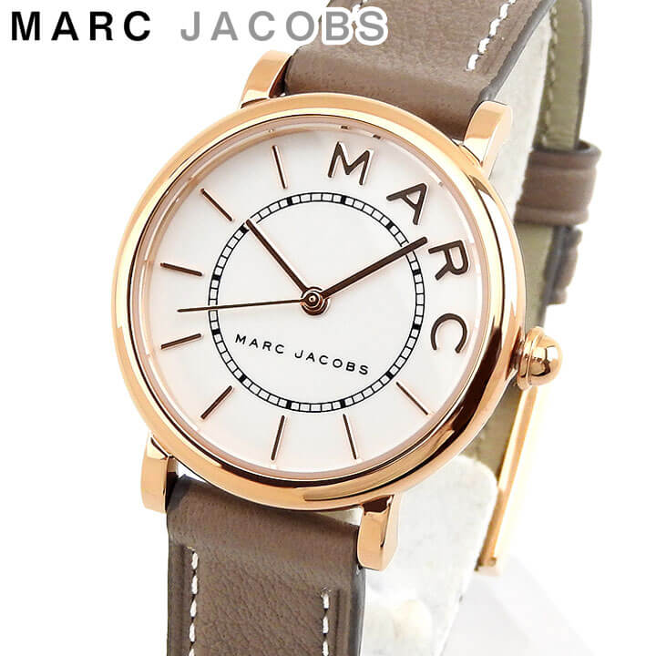 【送料無料】MARC JACOBS マークジェイコブス MJ1538 海外モデル レディース 腕時計 ウォッチ 革ベルト レザー アナログ ブラウンベージュ 白 ホワイト 誕生日プレゼント 女性 ギフト