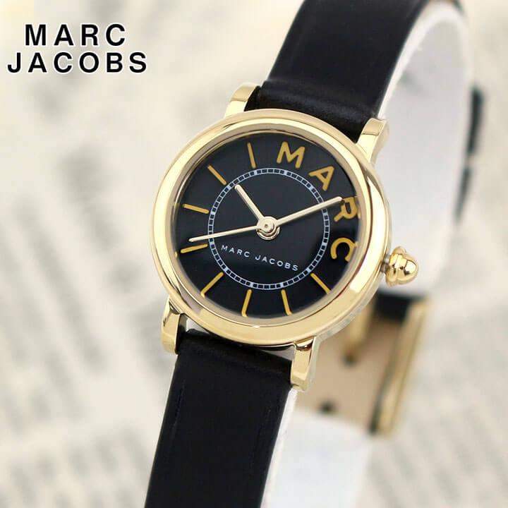【送料無料】Marc Jacobs マーク ジェイコブス CLASSIC クラシック MJ1585 レディース 腕時計 革ベルト レザー 黒 ブラック 金 ゴールド 海外モデル 卒業祝い 入学祝い
