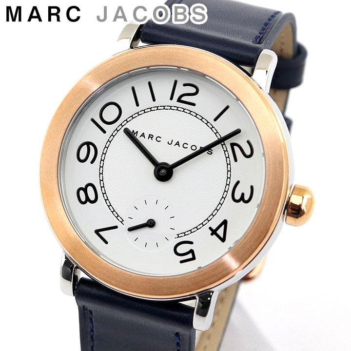 【送料無料】MARC JACOBS マークジェイコブス MJ1602 海外モデル レディース 腕時計 ウォッチ 革ベルト レザー アナログ ネイビー 白 ホワイト 誕生日プレゼント 女性 卒業祝い 入学祝い ギフト