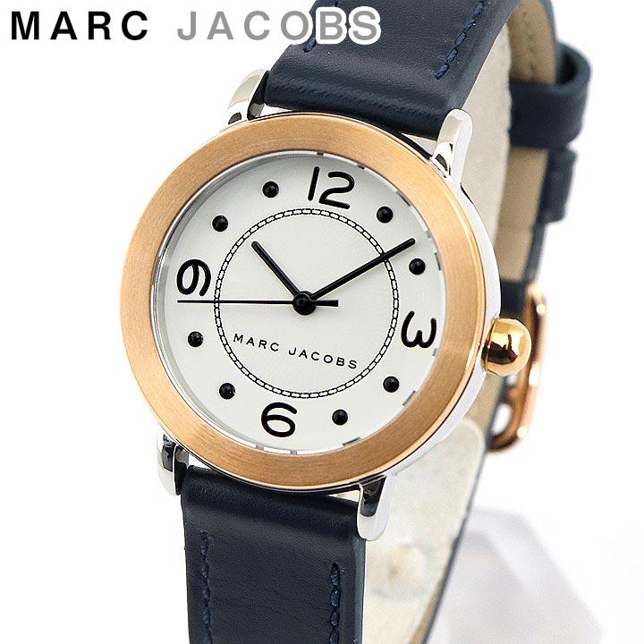 【送料無料】MARC JACOBS マークジェイコブス MJ1604 海外モデル レディース 腕時計 ウォッチ 革ベルト レザー アナログ ネイビー 白 ホワイト ピンクゴールド 誕生日プレゼント 女性 卒業祝い 入学祝い ギフト