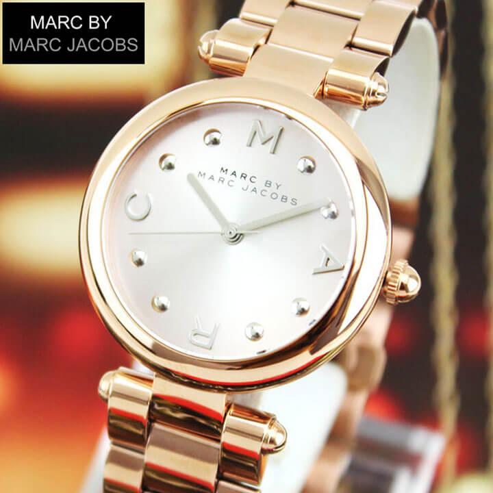 【送料無料】MARC JACOBS マーク ジェイコブス Dotty ドッティ MJ3449 海外モデル レディース 腕時計 ウォッチ メタル バンド クオーツ アナログ 金 ピンクゴールド 文字板シルバー 誕生日プレゼント 女性 ギフト
