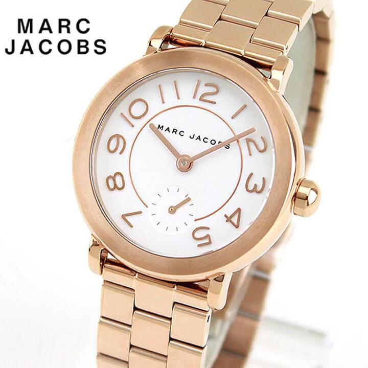 【送料無料】MARC JACOBS マーク ジェイコブス RILEY ライリー MJ3471 海外モデル レディース 腕時計 ウォッチ メタル バンド アナログ 白 ホワイト 金 ピンクゴールド 誕生日プレゼント 女性 ギフト