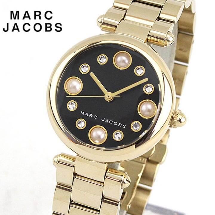 【送料無料】MARC JACOBS マーク ジェイコブス MJ3486 海外モデル レディース 腕時計 ウォッチ メタル バンド クオーツ アナログ 黒 ブラック 金 ゴールド DOTTY ドッティ 誕生日プレゼント 女性 ギフト