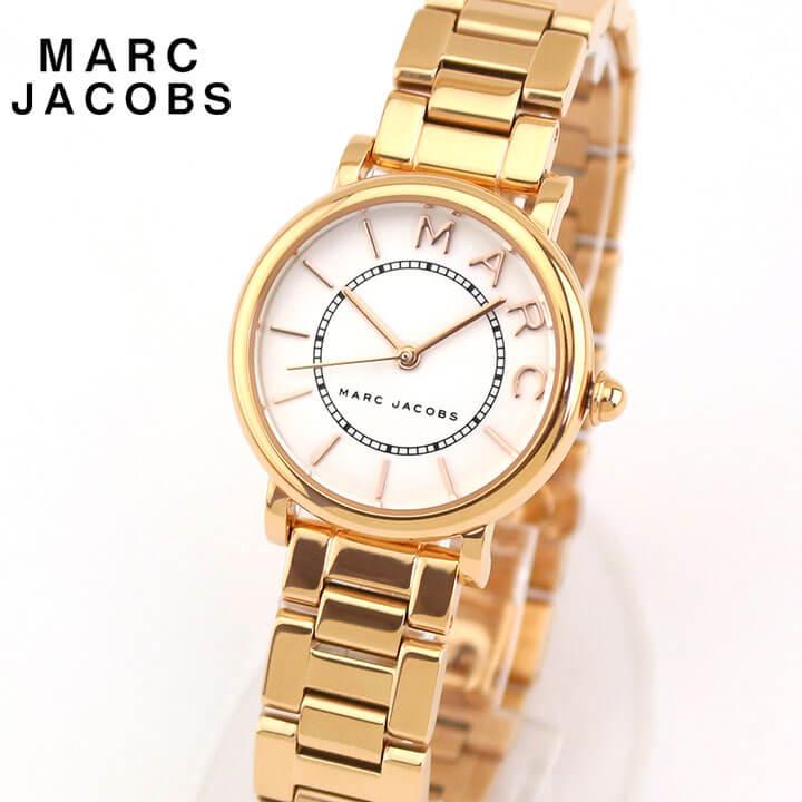 【先着!250円OFFクーポン】Marc Jacobs マーク ジェイコブス ROXY ロキシー レディース 腕時計 メタル クオーツ アナログ 白 ホワイト ピンクゴールドローズゴールド 誕生日プレゼント 女性 ギフト MJ3527 海外モデル