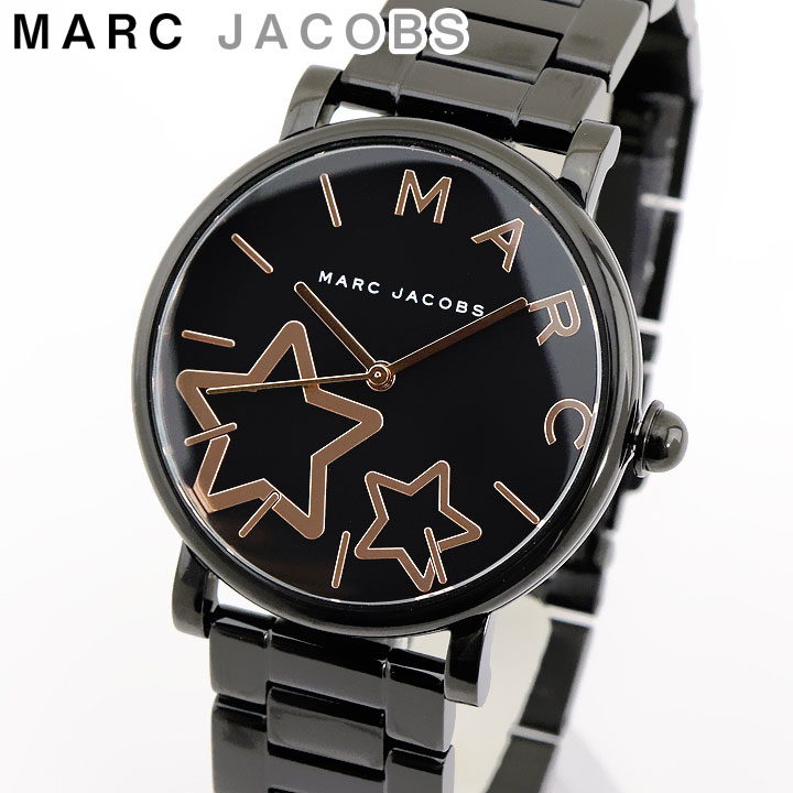 【送料無料】MARC JACOBS マークジェイコブス Classic クラシック MJ3590 海外モデル レディース 腕時計 ウォッチ アナログ ブラック 黒 ピンクゴールド ステンレスチール メタル 誕生日プレゼント 女性 卒業祝い 入学祝い ギフト