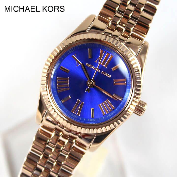 【クーポンで2000円OFF!9日20時~】【送料無料】MICHAEL KORS マイケルコース MK3272 レディース 腕時計 時計 ゴールド×ブルー 誕生日プレゼント 卒業祝い 入学祝い 女性 ギフト
