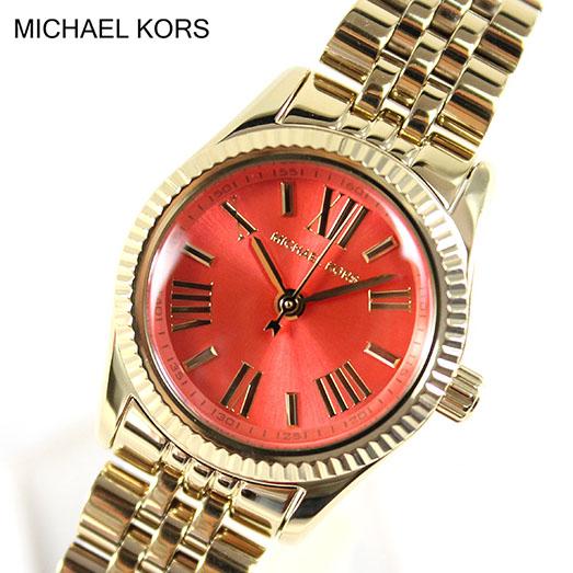 【送料無料】MICHAEL KORS マイケルコース MK3284 レディース 腕時計 時計 ブランド 小さいサイズ スモール かわいい アナログ ゴールド×オレンジ 金 誕生日プレゼント 女性 クリスマス ギフト