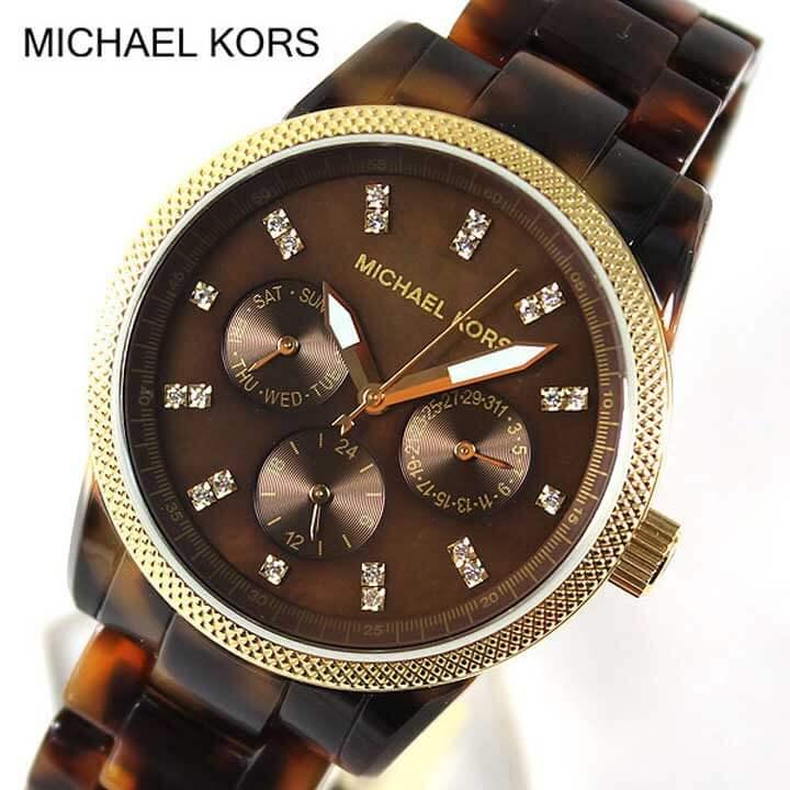 【送料無料】MICHAEL KORS マイケルコース MK5038 レディース 腕時計 時計 クロノグラフ ブラウン系 ゴールド ラグジュアリー 海外モデル 卒業祝い 入学祝い